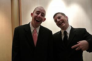 Formal night number two. Jay and Kevin goofing off.