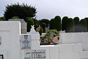 Punta Arenas, Chile - another cemetery filled with mausoleums - and another Croatia siting!