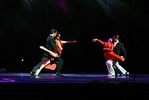The Pampas Devils performing a tango show