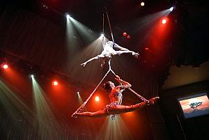 Showtime - the crazy acrobats again!
