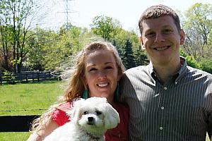 Easter 2012 -- Kyleen and Kevin with their dog Bella