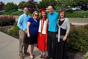 Julie's High School Graduation: Julie with her brothers and sisters