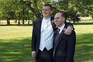 Kevin and his best man, Andrew