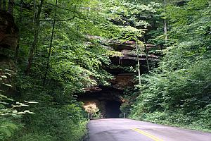 The Nada Tunnel - only wide enough for one car to pass at a time