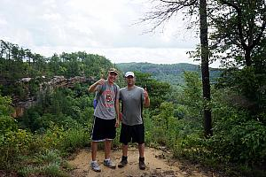 Jay and Chad pleased to be atop the ridge