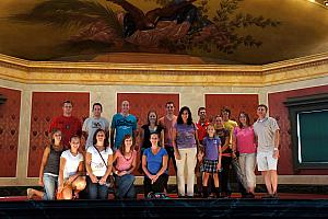 Mike Riesenberg arranged a tour of Memorial Hall for us, here's most of us on the tour.