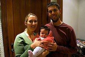 Our friends Mike and Jen Riesenberg and their little girl, Claire.