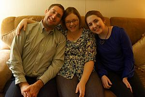 Chad, Jenny and Julie at Nana and Papa's Christmas Eve