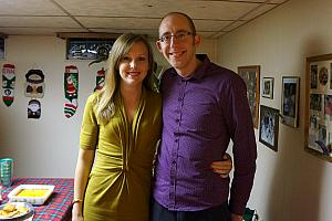 Kelly and Jay on Christmas Eve