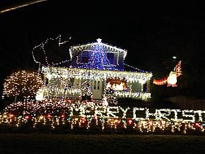 Ridiculous Christmas lights, near Bob and Fran's house