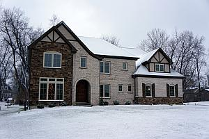 Our house covered in snow! We missed a White Christmas by one day - this is 12/26. Still very pretty