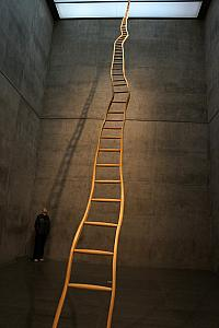 Modern Art Museum of Fort Worth - that's a big ladder.