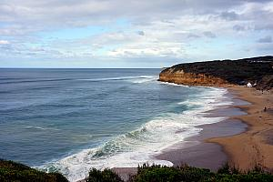 March 24: We took a bus trip on the Great Ocean Road, throughout the province of Victoria. Here's a beautiful beach.