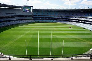 March 25: visiting Melbourne's Cricket Grounds. Giant field.