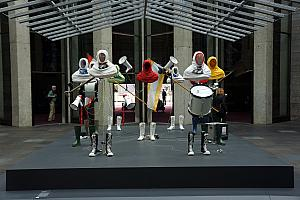 Melbourne's National Gallery of Victoria (NGV) - very clever art installation with a bodyless band.