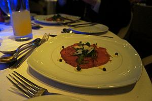 Yummmmm - one of my favorite appetizers - beef carpaccio