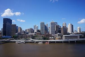 Downtown Brisbane. Their river looks like ours!