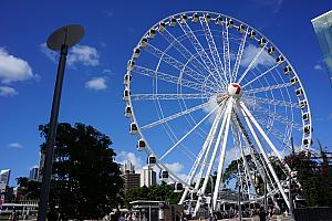 Brisbane's ferris wheel. We did take a ride on it, courtesy of a $5/per person Australian groupon deal!