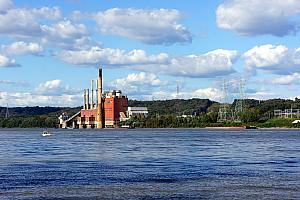 Cool-looking factory along the Ohio River