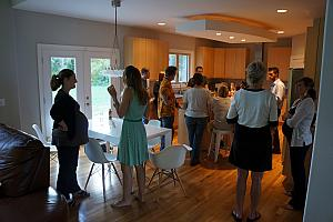 Party at our house for Kelly's family care design team
