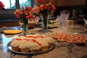 My mom made cupcakes and cookies for the party -- they were a big hit!