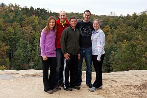 All the hikers atop Natural Bridge