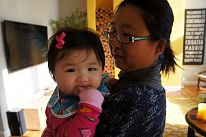 Cara with her Mom, Xuxu