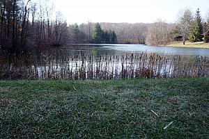 The lake began to unfreeze on Sunday with the temperature near 50.