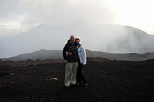 After a short walk along the edge of the crater, we arrived at another viewpoint.