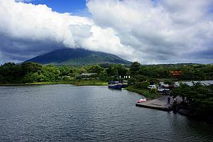 Arriving at Ometepe.