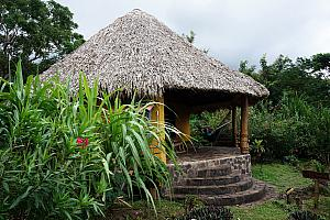 Our hut at the Totoco Ecolodge -- completely off the grid; electricity solely provided via a solar panel.