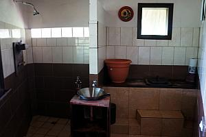Our bathroom - we were pleased that our shower was scalding hot, after our Granada hotel had only lukewarm water.