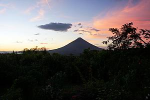 And we finally were rewarded at sunset with a non-cloud-covered Concepcion. This was the only time during our four-days on Ometep where we could see the volcano's apex.