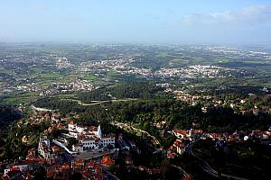 View of Sintra and surrounding landscape