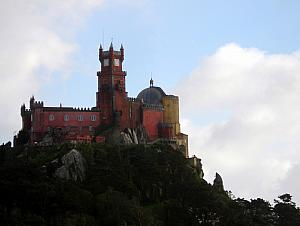 Looking back at Pena National Palace