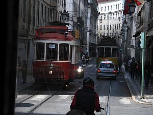 March 25: Back in Lisbon, we took a ride on a street car.