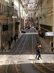 Typical road in Lisbon