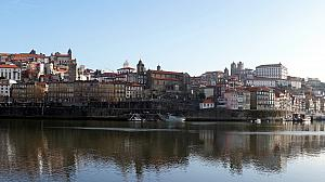 View of Porto riverfront from our river cruise boat