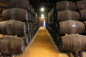 Visiting a Graham's Port wine cellar in Vila Nova de Gaia across the Douro River from Porto