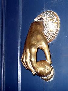 Fancy doorknob.