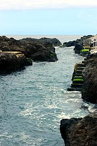 Visiting Garachico: Rock formations formed some natural pools along the edge of the beach.