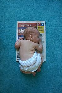 Capri is three months old! This is the Cincinnati Enquirer from the day she was born.