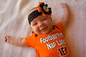 She's a natural Bengals fan.