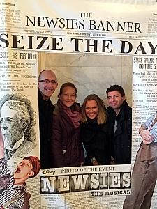 We were excited to have our friends Mario and Milda visit from Croatia. Here we are seeing the musical Newsies.