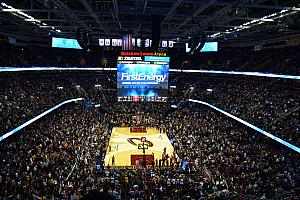 Mario, Milda and I went to a Cleveland Cavaliers game!