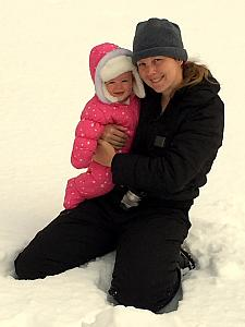 Capri and Mom in the snow again.