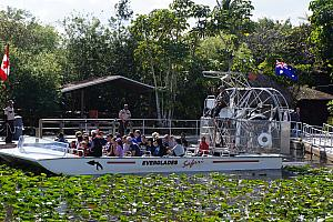 Going on an air boat ride.