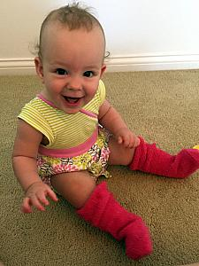 Mommy's socks fit me great!