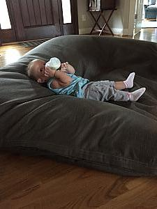 No big deal, just hanging out on my big bean bag chair and drinking a bottle.