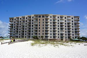 Our condo. We were on the right side, second balcony from the edge, lowest balcony.